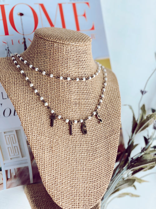 The Tigs Town Necklace - Bronze Double
