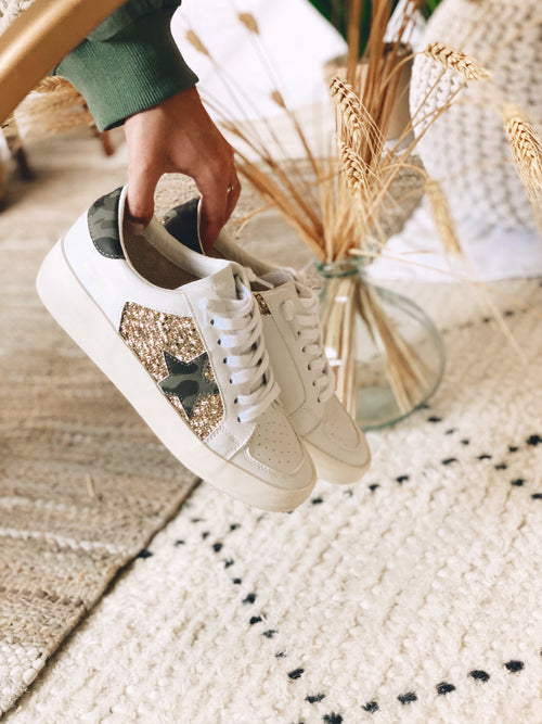 The Forrest Sneakers by Vintage Havana - Gold Camo
