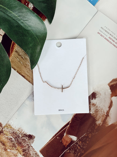 The Craved Cross Necklace