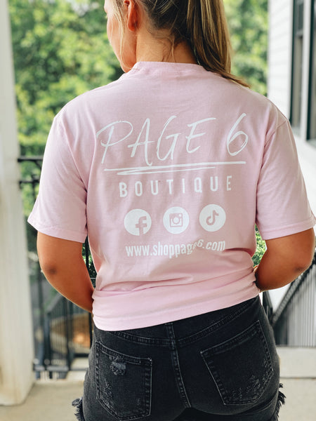 The Modern Page 6 Tee - Pink