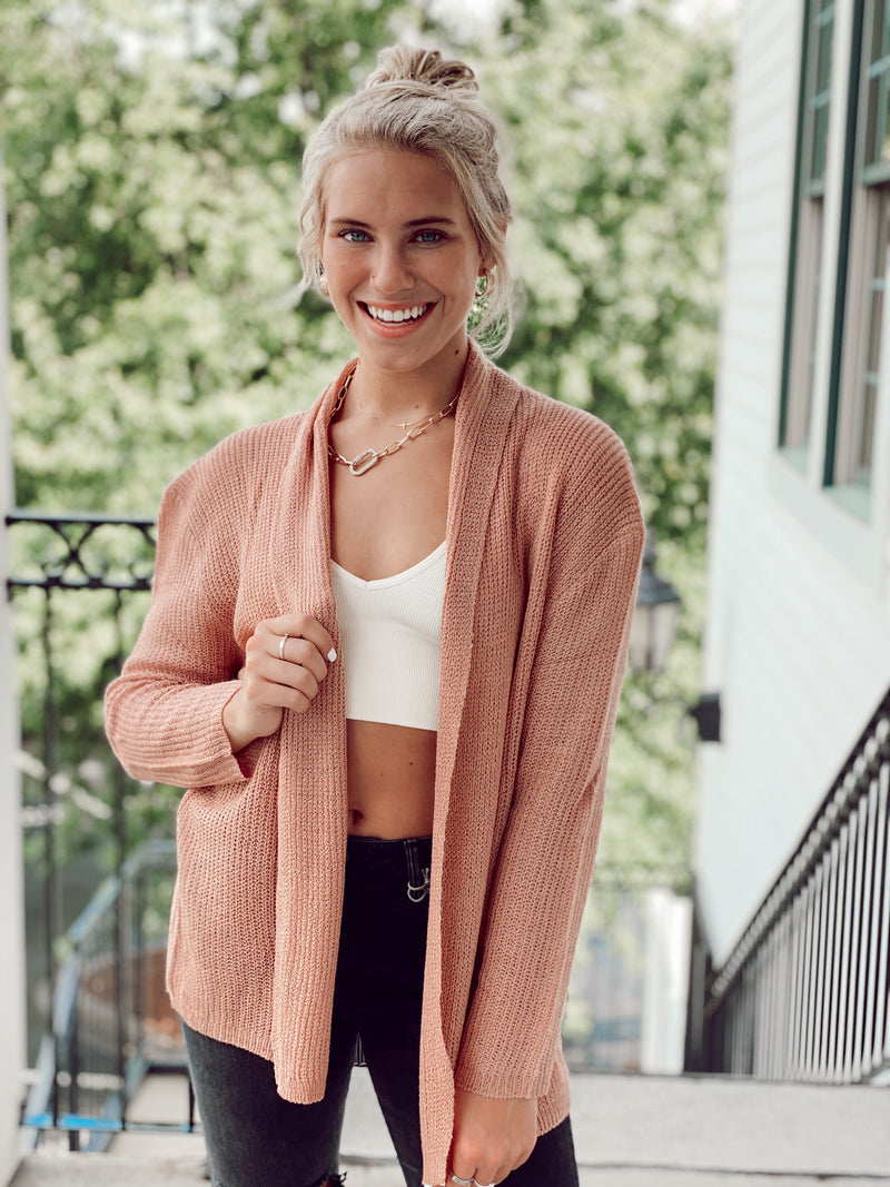 The Rosebud Cardigan - Mauve