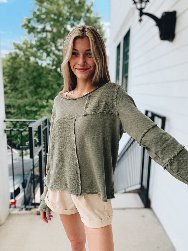 The Patchwork Top - Olive