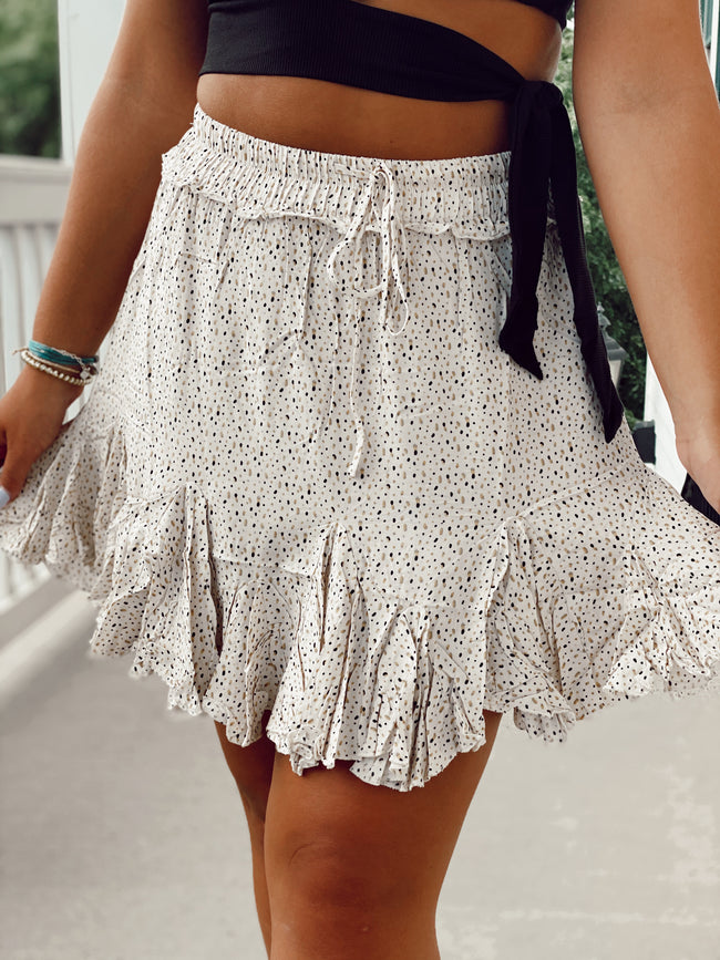The Play No Games Skirt - Ivory