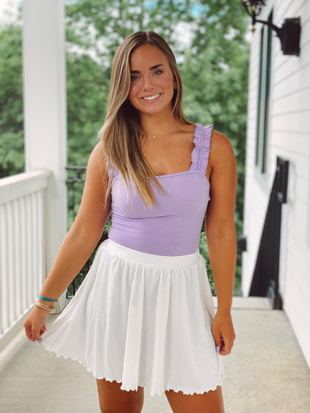 The Keep Your Calm Skirt - White