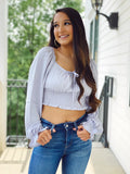 The Cinderella Top - Blue/ Grey
