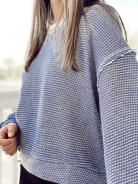 The Punch Knit Sweater - Dusty Lavender