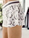 The Slinky Snake Shorts - Beige/ Grey