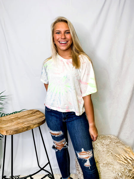 Trippy Tie Dye Top - Light Mix