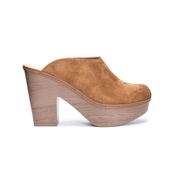 Chinese Laundry - Florina Suede Mules - Cognac