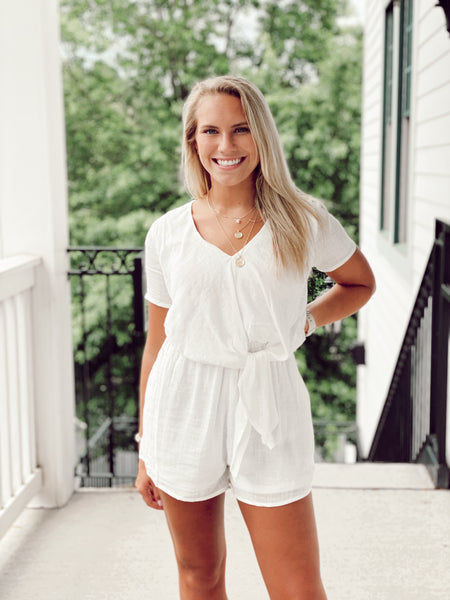 The Archer Romper - Black