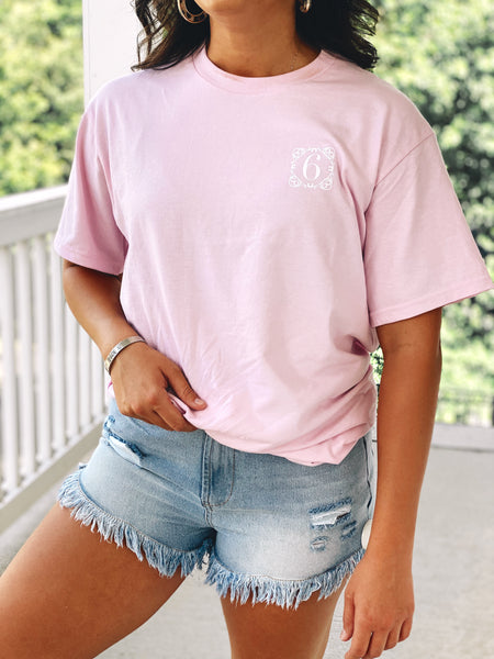The Vintage Page 6 Tee - Pink