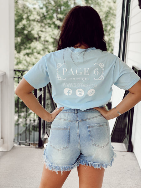 The Vintage Page 6 Tee - Blue