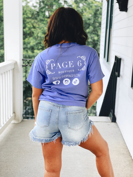 The Vintage Page 6 Tee - Purple