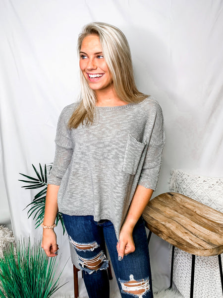This Little Lightweight Sweater - Heather Grey
