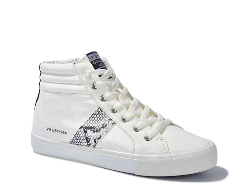 The Snake Eye Sneakers by Vintage Havana - White Patent