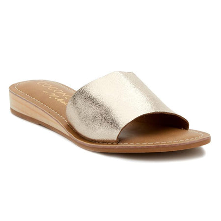 Beach by Matisse - Pebble Slide - Gold Spot nude cowhair
