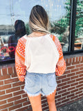 Tillman Patterned Sleeve Top