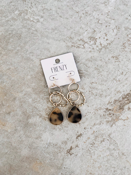 Stone Gaze Earrings - Black