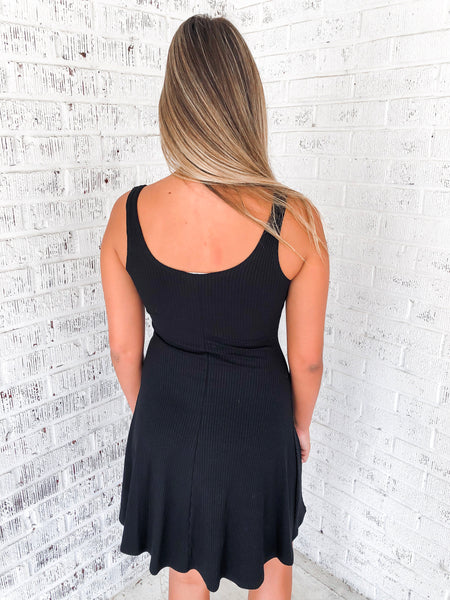 Turn of Events Ribbed Dress