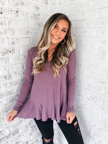 Days Off Long Sleeved Top - Purple