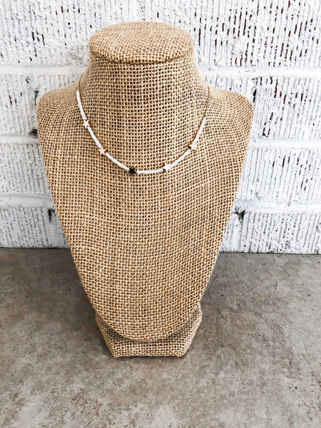Ibiza Beaded Necklace - Tan