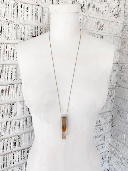 Lucia Beaded Necklace - White