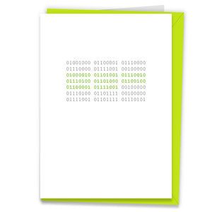 Binary Code Happy Birthday Card