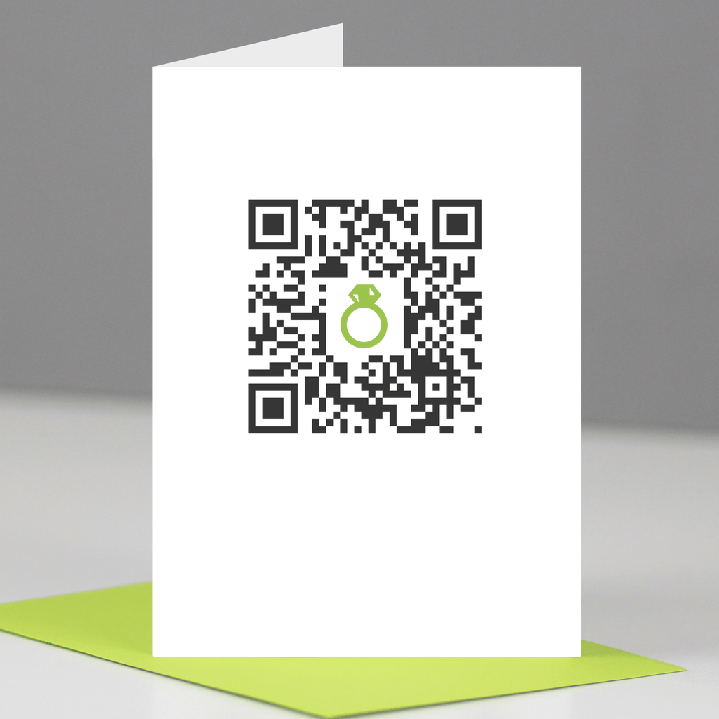 QR Code Congratulations on your Engagement Card