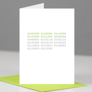 Binary Code Happy Anniversary Card