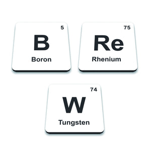 Periodic Table BREW Set of 3 Coasters