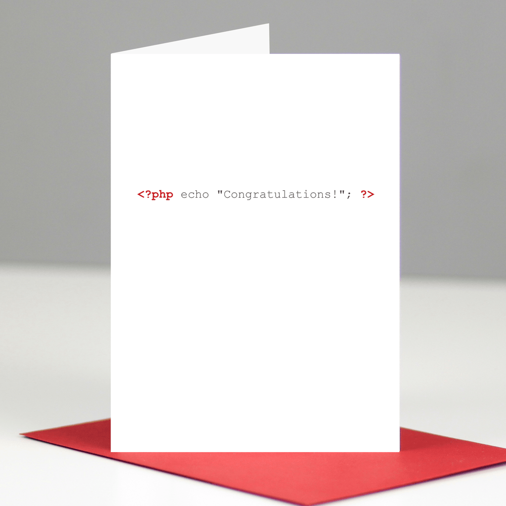 PHP Congratulations Card
