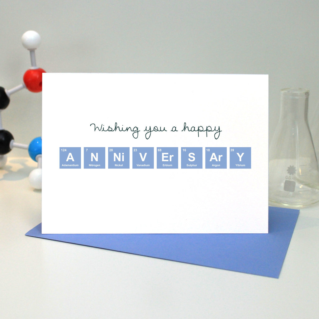 "Periodic Table ""Happy Anniversary"" Card"