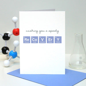 "Periodic Table ""Get Well Soon"" Card"