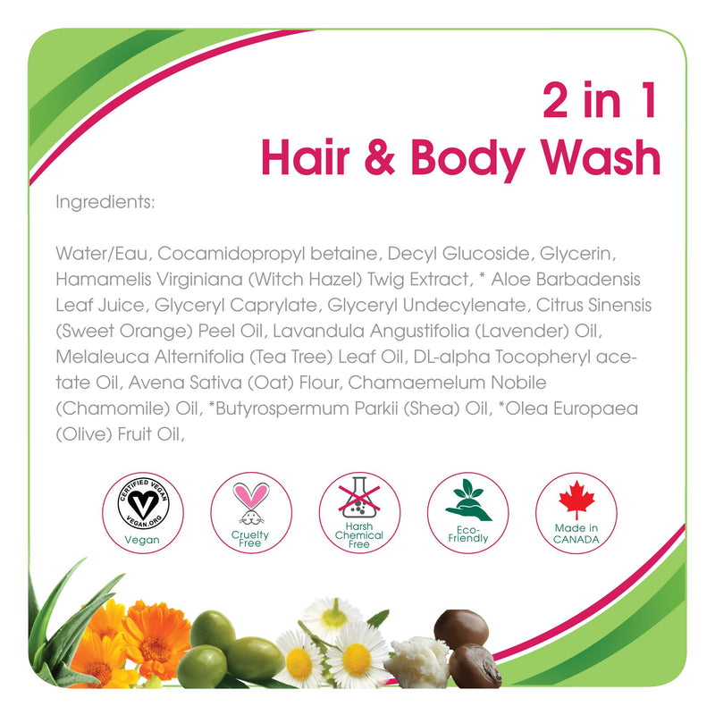 Health & Safety,Aleva Naturals 2in1 Hair & Body Wash, shampoo, baby shampoo, baby conditioner, baby hair, hair, wash hair, lilniblets.com , Toronto, Ontario