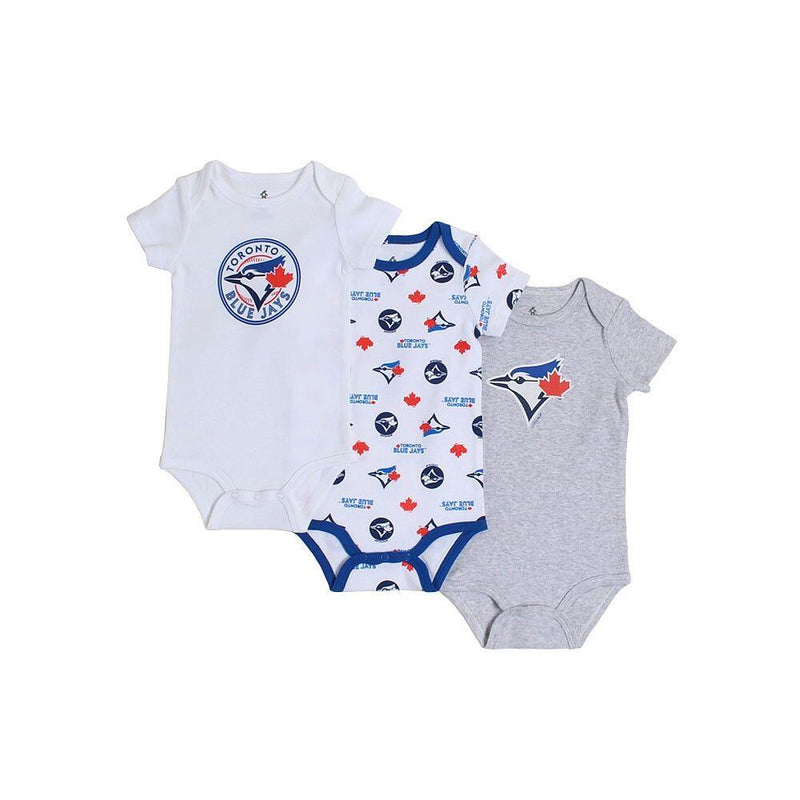 Snugabye 3pk Body Suit Blue Jays