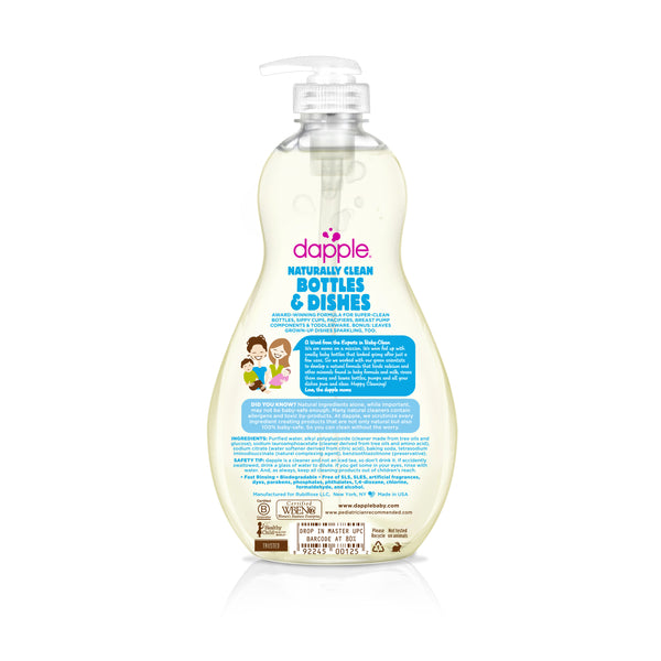 Dapple Fragrance-Free Bottle & Dish Liquid (16.9oz)