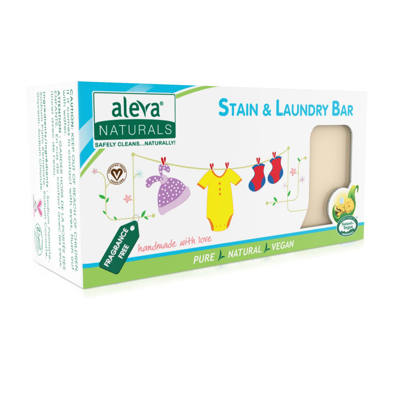 aleva, naturals, stain remover, stain removal, laundry bar, laundry