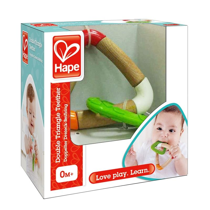 Hape Double Triangle Teether, Double Triangle Teether, Hape Triangle Teether, Hape teether, Triangle Teether,