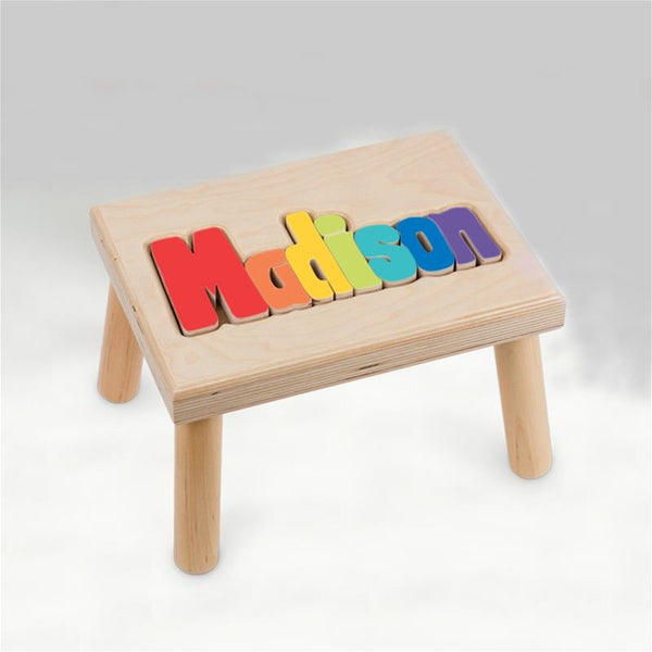 Personalized Wooden Stool Small