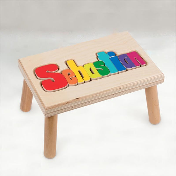 Personalized Wooden Stool Large