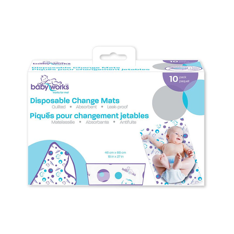 Bath & Potty, Baby Works, Change Mats, Disposable, diaper mat, changing mat, changing pad, disposable diaper, disposable mat, disposable change