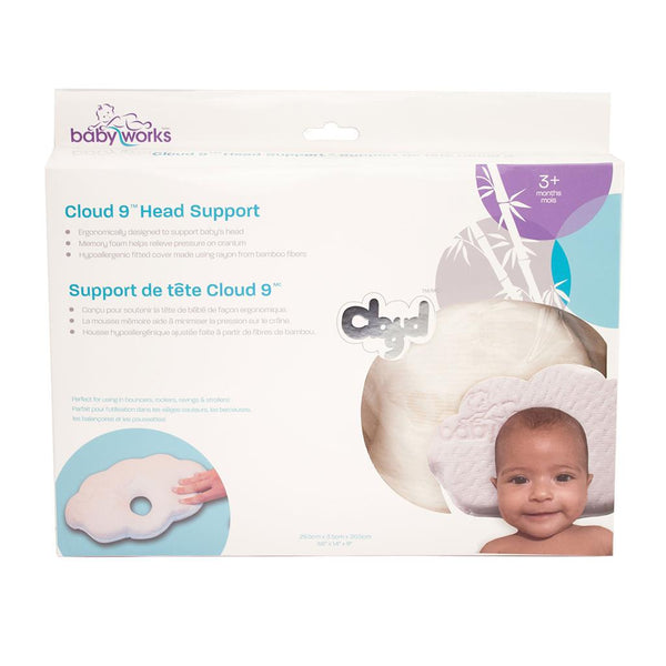 Baby Works, Cloud 9, Head Support, Pillow, head pillow, baby support, baby head, cranium, head cushion, baby cushion, infant pillow, infant head
