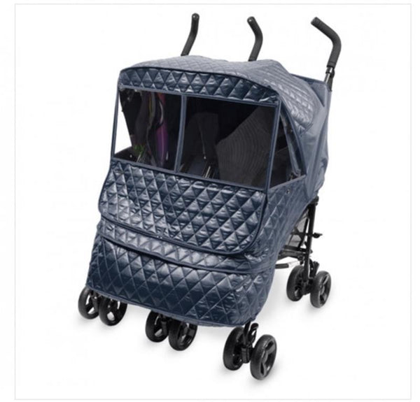 Stroller Accessories, Stroller Weather Shield, Manito Castle Alpha Twin Navy, Castle Alpha Twin, Manito Castle Alpha Twin Stroller Weather Shield