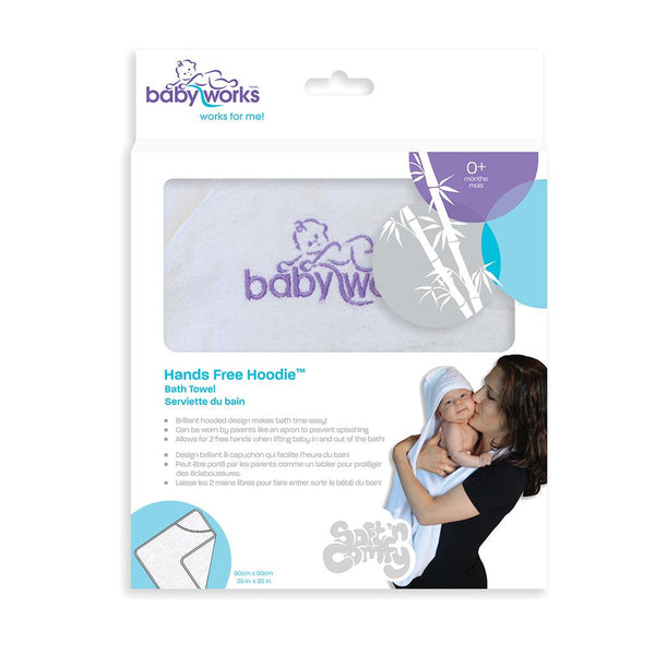 Bath and Potty, Towels, Baby Works, Hooded Towel, Baby Works Hands Free Hoodie Bath Towel, Hooded Towel, Bath Towel