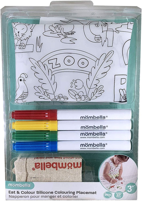 Mombella Silicone Placement with Colouring Markers