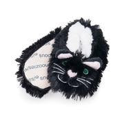 Snoozies Furry Slippers Black Cat