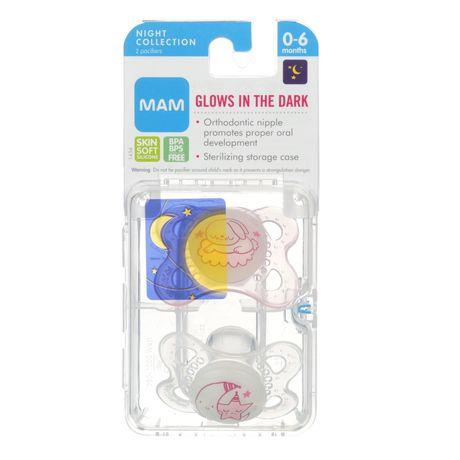 Mam Glow In The Dark Night Pacifier - 0-6M