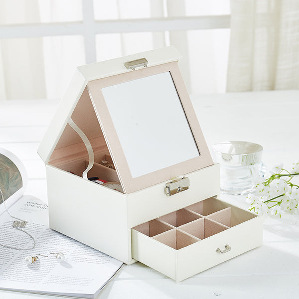 2 layers with mirror jewelry box