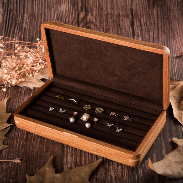 African rosewood pure solid wood ring earrings ring brooch storage box men's cufflink box jewelry box