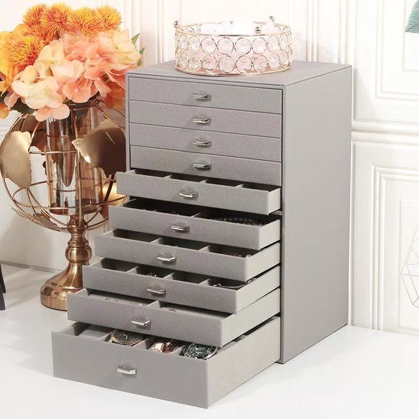 10-Layers Large Jewelry Box Organizer - Nillishome